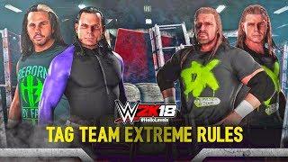 WWE 2K18 Hardy Boyz vs DX | Jeff Hardy and Matt Hardy vs Triple H and Shawn Michaels - WWE 2K18
