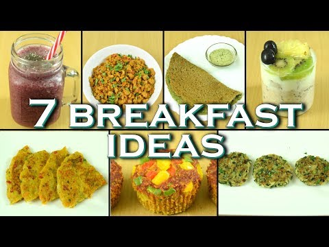 7 healthy breakfast recipes for the entire week| Simple, Easy, Quick & Healthy breakfast ideas