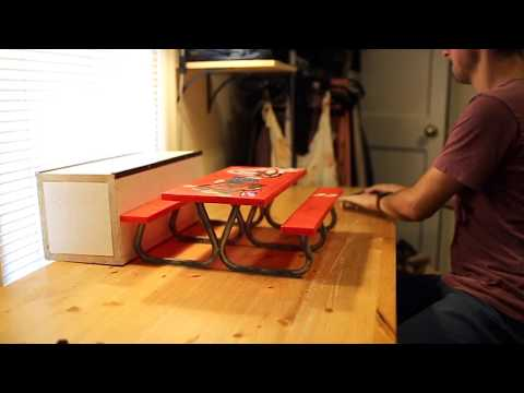 Picnic table tricks with a handboard