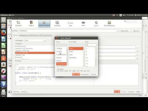 NetBeans - Colors & fonts