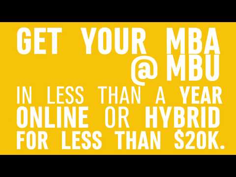 Get Your MBA @ MBU