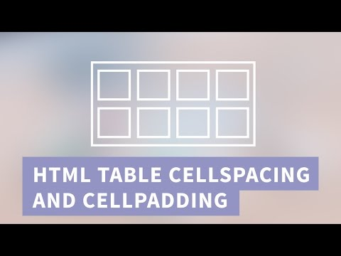 HTML Table Cellspacing and Cellpadding in CSS | Quick Tutorial