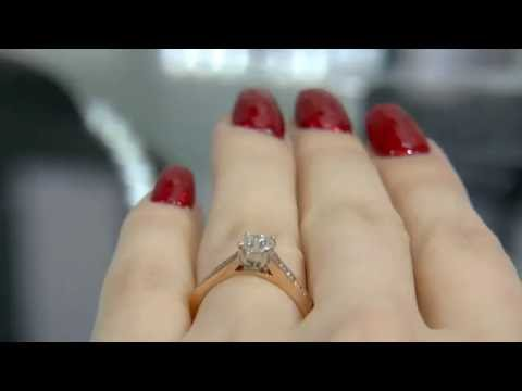 0.75 Carat Four Claw Set Side Stone Diamond Engagement Ring SD029