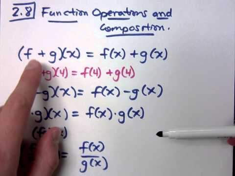 College Algebra - Part 105 (Function Operations and Composition)