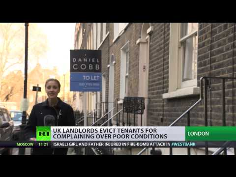 UK landlords' 'revenge evictions' on complaining tenants