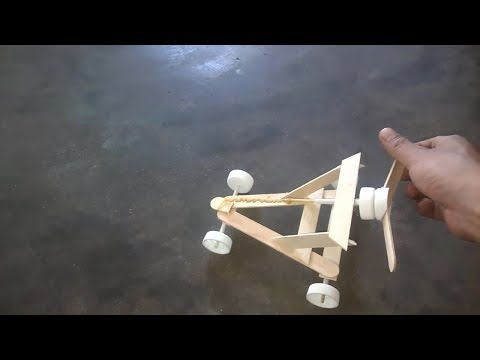 How to make a wood stick Band rubber Car