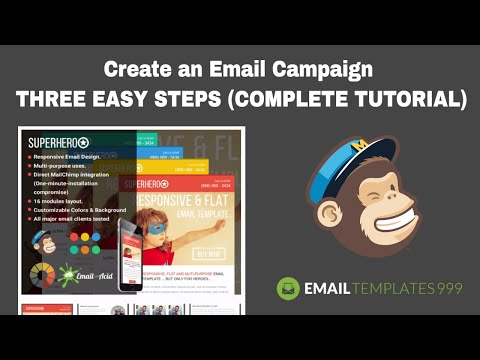 Create an Email campaign in Mailchimp in THREE EASY STEPS (COMPLETE MAILCHIMP TUTORIAL 2017)