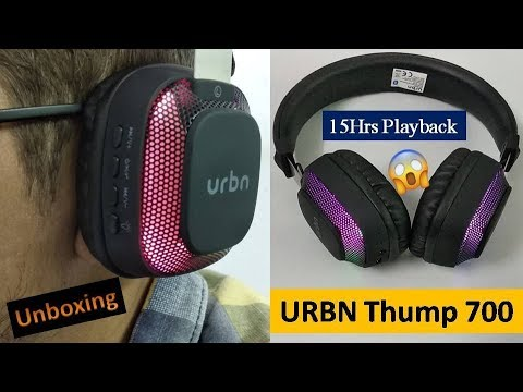 Urbn Thump 700 Bluetooth Headphone Unboxing & Quick Review in Hindi