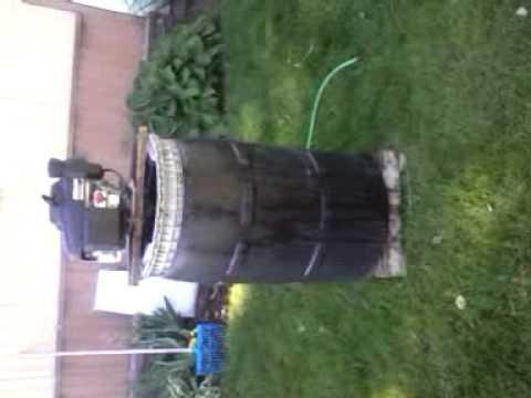 Homemade Giant 55 gallon blender