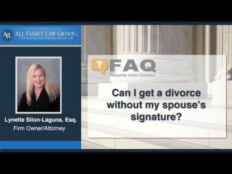 Can I get a divorce without my spouse's signature?