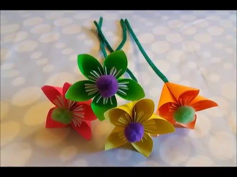 How to make paper flowers - creative art (Simple DIY steps)
