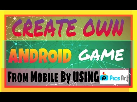 How To Create Android Game from Mobile By Using PICSART App | Create Own Game (HINDI)
