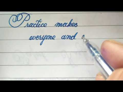 neat handwriting with gel pen || awesome calligraphy || CURSIVE WRITER