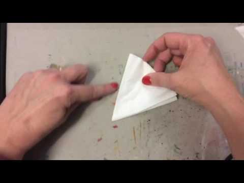 Paper Snowflake folding from a Coffee Filter