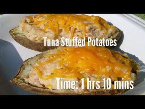 Tuna Stuffed Potatoes Recipe