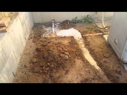 Digging a trench from washer drain part 1