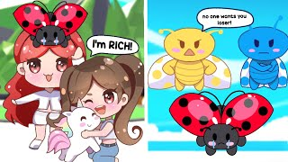 """The Unwanted LadyBug Ep. 1   """"POOR to RICH""""   Adopt Me Pet POV"""