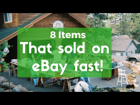 8 Items that Sold on eBay Fast! - Selling on eBay and making money
