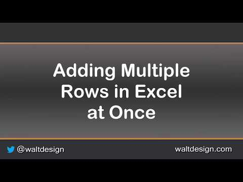 Quick Tips: Add Multiple Rows or Columns at Once