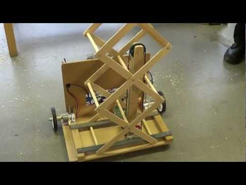 Student Robotics - ThunderBots - Scissor Lift prototype with pulley system V01
