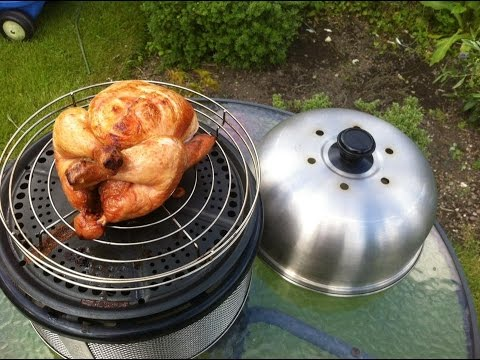 Cobb BBQ, cooking a whole chicken