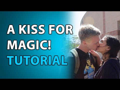 How to get a KISS with Magic Trick! Tutorial! Secret Revealed! Kissing Magic Trick