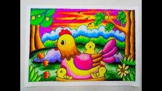 Tutorial Mewarnai Pemandangan Dengan Crayon 1 How To Color With
