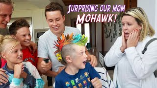 We gave our brother a Mohawk! Mom is Shocked!