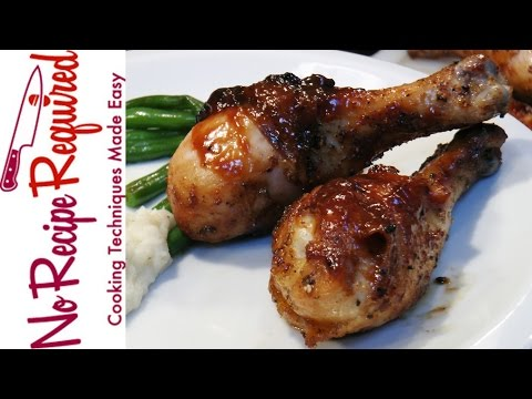 How to Grill Chicken Legs - NoRecipeRequired.com