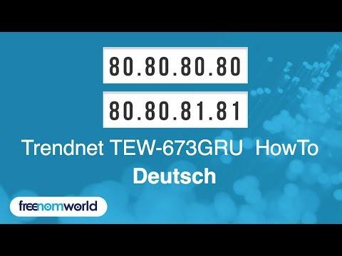 Freenom World Trendnet TEW-673GRU HowTo (German)