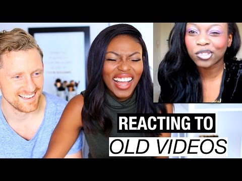 REACTING TO MY OLD YOUTUBE VIDEOS! STARTED FROM THE BOTTOM -  BEYONC, TUTORIALS, & MORE