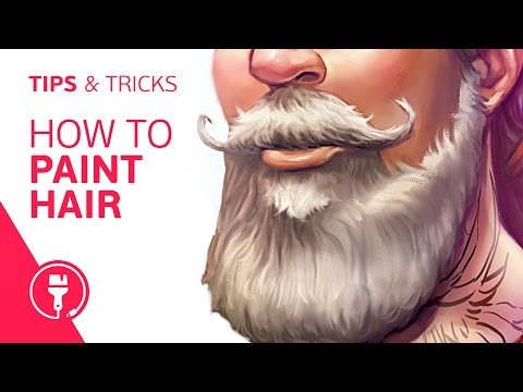 Digital Painting: How to Paint Hair