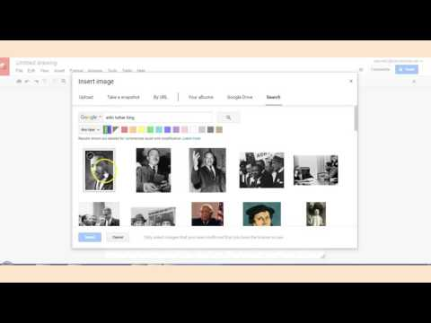 Find and Print Pictures with Google Drawings
