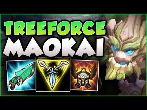STOP PLAYING MAOKAI WRONG! 200 IQ TREEFORCE MAOKAI! MAOKAI SEASON 8 TOP GAMEPLAY! League of Legends