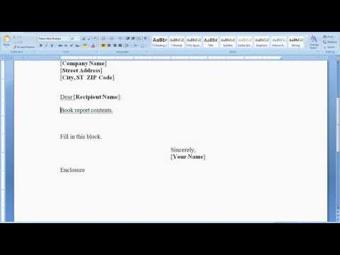 Learning & Teaching English : How to Make a Cover Letter for a Book Report