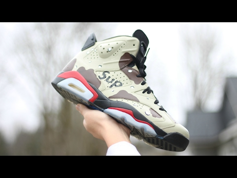 HOW TO Custom SUPREME Desert Camo 6s