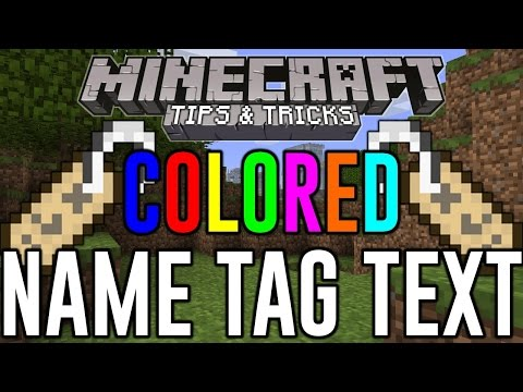 How To Get colored nametags and signs in MineCraft Xbox one/PS4