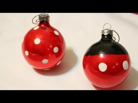 DIY Mickey and Minnie Ornaments *EASY*  -Whitney Crafts