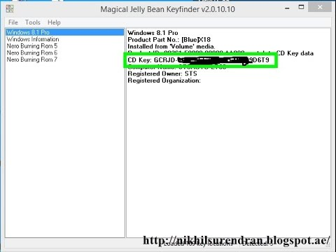 Recover your CD key