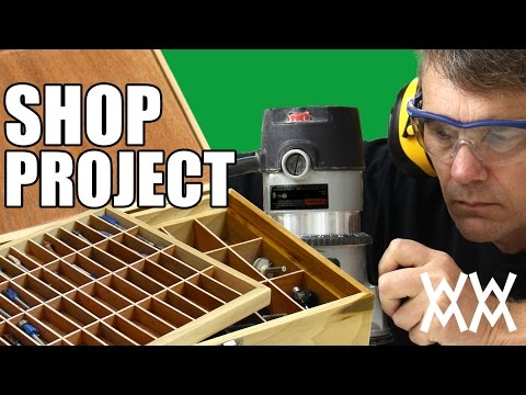 Router bit storage box. Get organized by making this handy shop project.