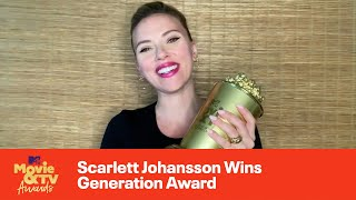 Scarlett Johansson Wins Generation Award | 2021 MTV Movie & TV Awards