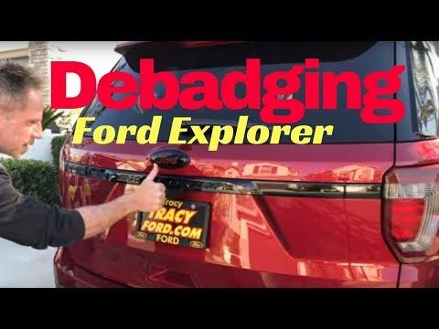 Debadging Ford Explorer: AutoFetishDetail.com