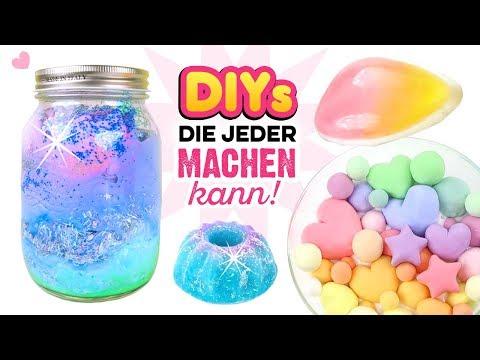 VIRALE BASTELIDEEN!!! Duschjelly, Kneten Slime, Ombre Seife, Galaxy Jar einfach selber machen! DIY