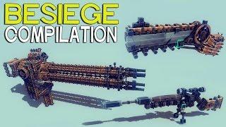 ►besiege Compilation - Interesting Guns And Mechanisms