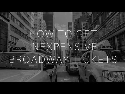 How to Get Inexpensive Broadway Tickets!