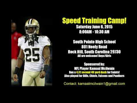 Speed Training Camp June 6, 2015 Rock Hill South Carolina