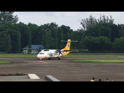 CEBU PACIFIC landing at Camiguin Island Airport (July 12, 2016)