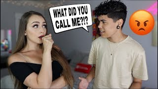 Calling My Boyfriend My Ex's Name Prank! *Bad Idea*