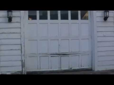 Building and replacing a garage door panel to match