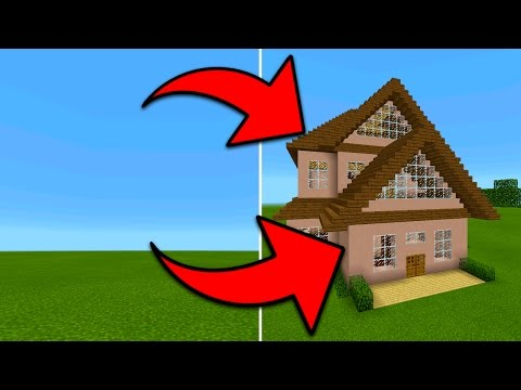 How To Spawn Houses in Minecraft Pocket Edition (Instant Structures Mod)